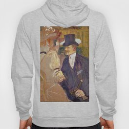 "Henri de Toulouse-Lautrec ""The Englishman (William Tom Warrener, 1861–1934)"" Hoody"