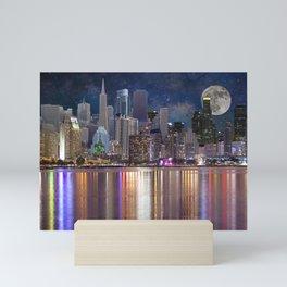 Can you name all the cities? Mini Art Print