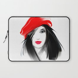 girl in the red beret Laptop Sleeve