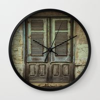 italian Wall Clocks featuring Italian Door III by Maria Heyens
