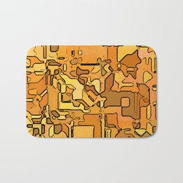 Abstract segmented 5 Bath Mat