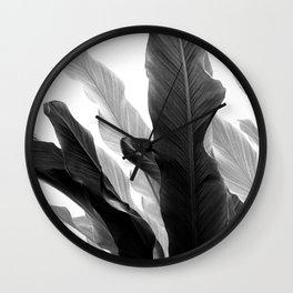 Banana Leaves Jungle #3 #tropical #decor #art #society6 Wall Clock