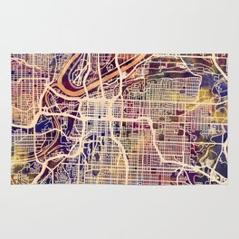 Kansas City Missouri City Map Rug