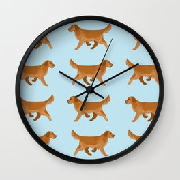 Golden Retriever Love Wall Clock
