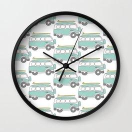 The Surf Life | Aqua Bus Wall Clock