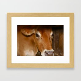 MOOdy Cow Framed Art Print