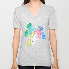 g1 my little pony pegasus Unisex V-Neck