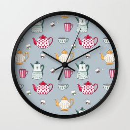 Teapots Wall Clock