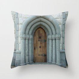 The Castle next Door Throw Pillow