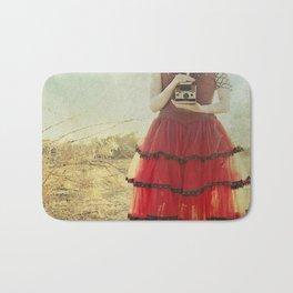 Lady in Red Bath Mat
