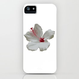 Pure White Hibiscus Tropical Flower iPhone Case