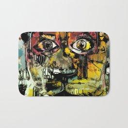 Lion Eyes Abstract Human Animal Illustration Bath Mat