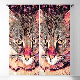 savannah cat portrait valsh Blackout Curtain