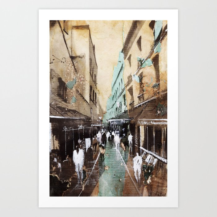 Paris painting Art Print