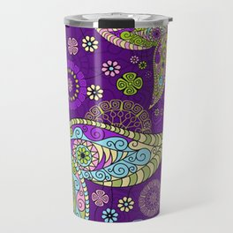 Colorful Butterflies and Flowers V5 Travel Mug
