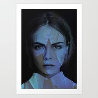 cara delevingne Art Prints featuring Cara Delevingne  by TRUANGLES
