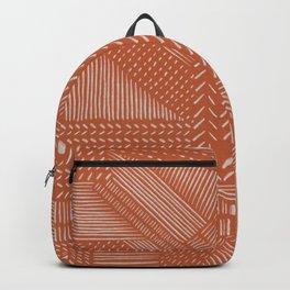 Mud Cloth / Orange Backpack