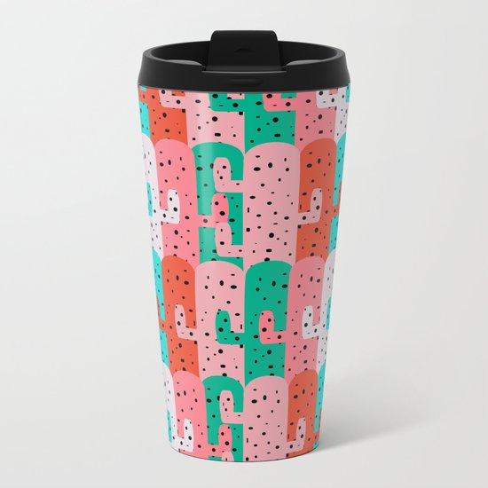 Cacti arrangement Metal Travel Mug