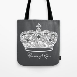 County of Kings | Brooklyn NYC Crown (WHITE) Tote Bag
