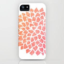 Coral Sea Glass Dahlia iPhone Case