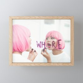 whore Framed Mini Art Print