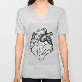 One heart. Unisex V-Neck