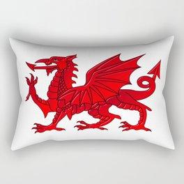 Welsh Dragon With a Bevel Effect Rectangular Pillow