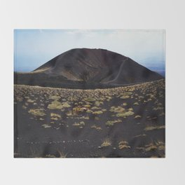 Mount Etna Sicily Throw Blanket