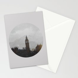 Grungy London Circle Stationery Cards