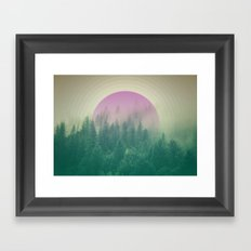 Orchid Vibes Forest Framed Art Print