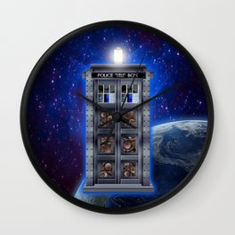 Steampunk time machine Phone booth iPhone 4 4s 5 5c 6, pillow case, mugs and tshirt Wall Clock