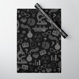 Grey and Black Science Pattern Wrapping Paper