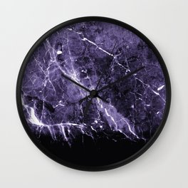 Ultra Violet Marble #1 #decor #art #society6 Wall Clock