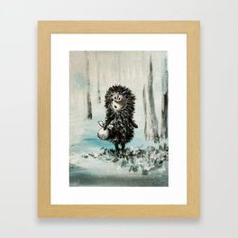 Hedgehog in the fog Framed Art Print