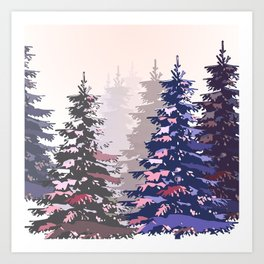 Pine trees pattern Art Print