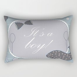 Baby shower invitation card Rectangular Pillow
