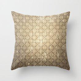 d20 Forbidden Scroll Critical Hit Pattern Throw Pillow