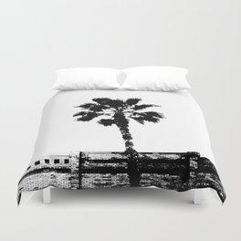 Black & White Palm Duvet Cover