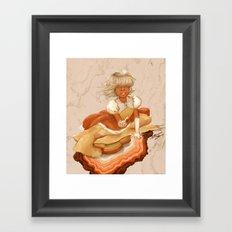 Hindsight Sapphire Framed Art Print