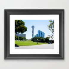 Reunion Tower, Dallas Framed Art Print