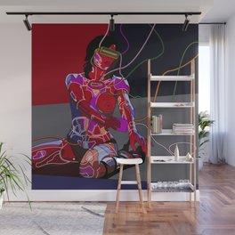 Jessica Biel 80s cyborg Wall Mural