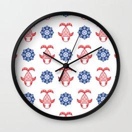 Fishy & Lotus Wall Clock
