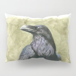 Proud Raven - Watercolor Pillow Sham