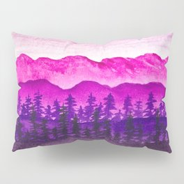 Purple and pink mountains Pillow Sham