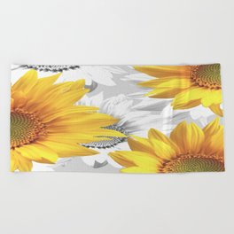 Sunflower Bouquet #decor #society6 #buyart Beach Towel