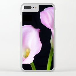 Dance Of Two Pink Calla Lilies Clear iPhone Case