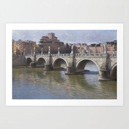Puerto del Angelo, Rome Art Print