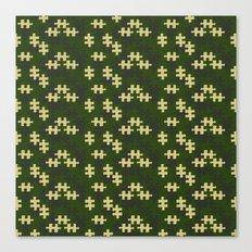 chameleon puzzle Canvas Print