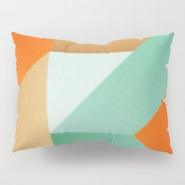 Abstract art - Color pattern 3 - green, orange , gold Pillow Sham