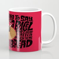 misfits Mugs featuring Last Bagel Caress by Chris Piascik